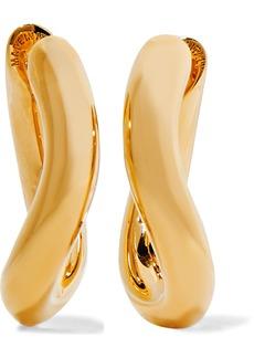 Balenciaga Loop Xs Gold-tone Hoop Earrings