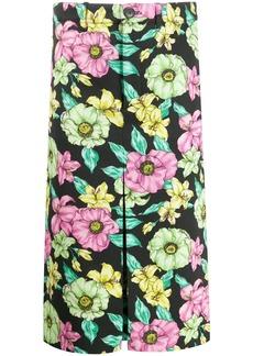 Balenciaga Lush Floral print midi skirt