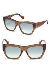Balenciaga Marcolin 56MM Mirrored Square Sunglasses