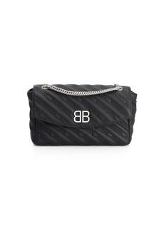 Balenciaga Medium Chaine Lock Round Handbag