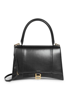 Balenciaga Medium Hour Leather Top Handle Bag