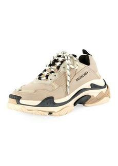 Balenciaga Men's Triple S Mesh & Leather Sneakers