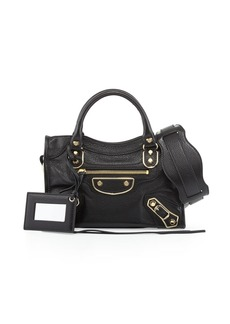 Balenciaga Metallic Edge City Mini Bag  Black