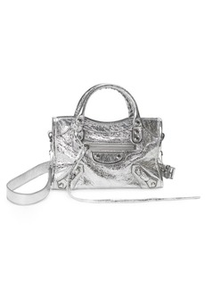 Balenciaga Metallic Mini City Bag