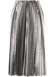 Balenciaga metallic pleated skirt