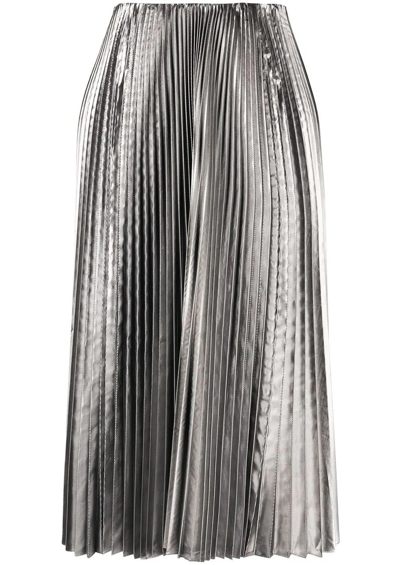 Balenciaga metallic pleated skirt