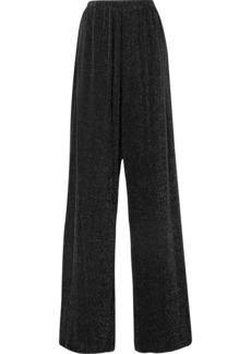 Balenciaga Metallic Stretch-jersey Wide-leg Pants
