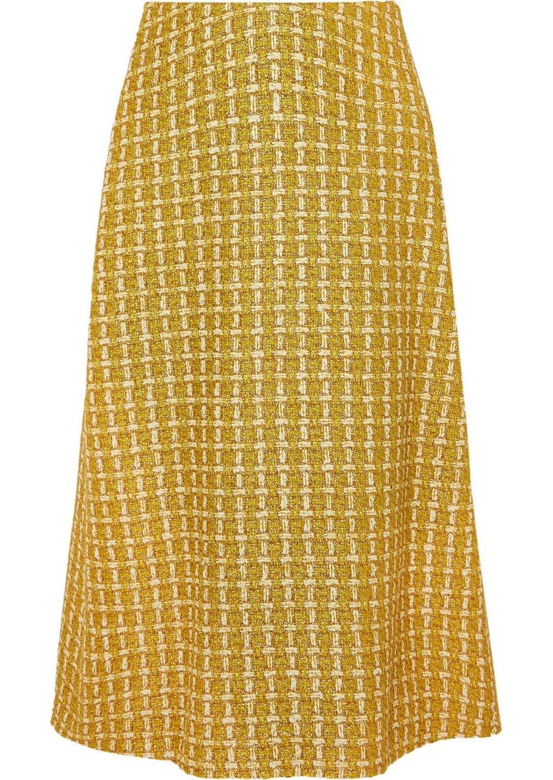 Balenciaga Metallic Wool-blend Tweed Skirt