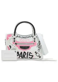 Balenciaga Mini City Graffiti  Leather Bag