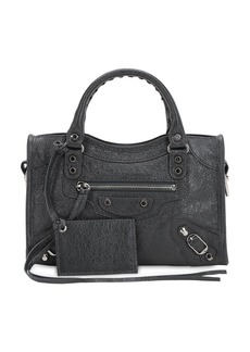 Balenciaga Mini City Leather Top Handle Bag