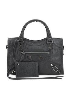 Balenciaga Mini City Leather Top Handle Bag