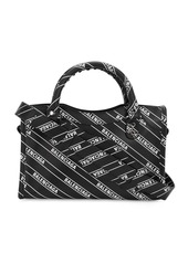 Balenciaga Mini City Logo Printed Leather Bag