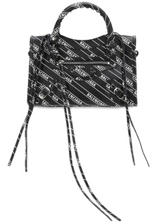 Balenciaga Mini City Logo Printed Leather Bag