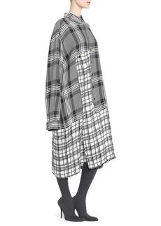 Balenciaga Mixed Plaid Shirtdress