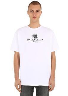 Balenciaga Mode Logo Cotton Jersey T-shirt