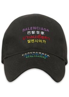 Balenciaga multi-language logo hat