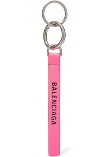 Balenciaga Neon Printed Leather Keychain