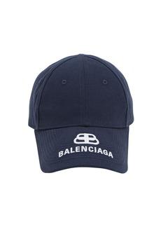 Balenciaga New Logo Embroidered Cotton Baseball Hat