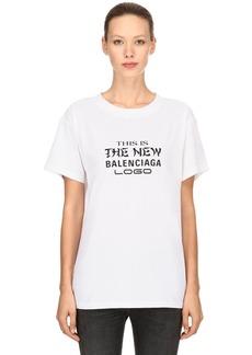 Balenciaga New Logo Printed Jersey T-shirt