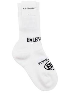 Balenciaga New Political Logo Cotton Socks