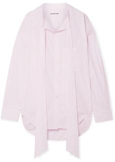 Balenciaga New Swing Oversized Striped Cotton-poplin Shirt