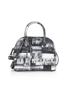 Balenciaga Small Ville New York Skyline Top Handle Leather Bag