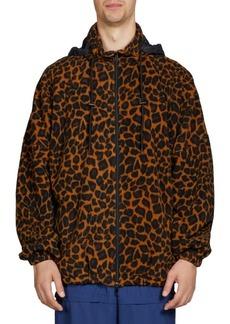 Balenciaga Oversize Animal Print Fleece Jacket