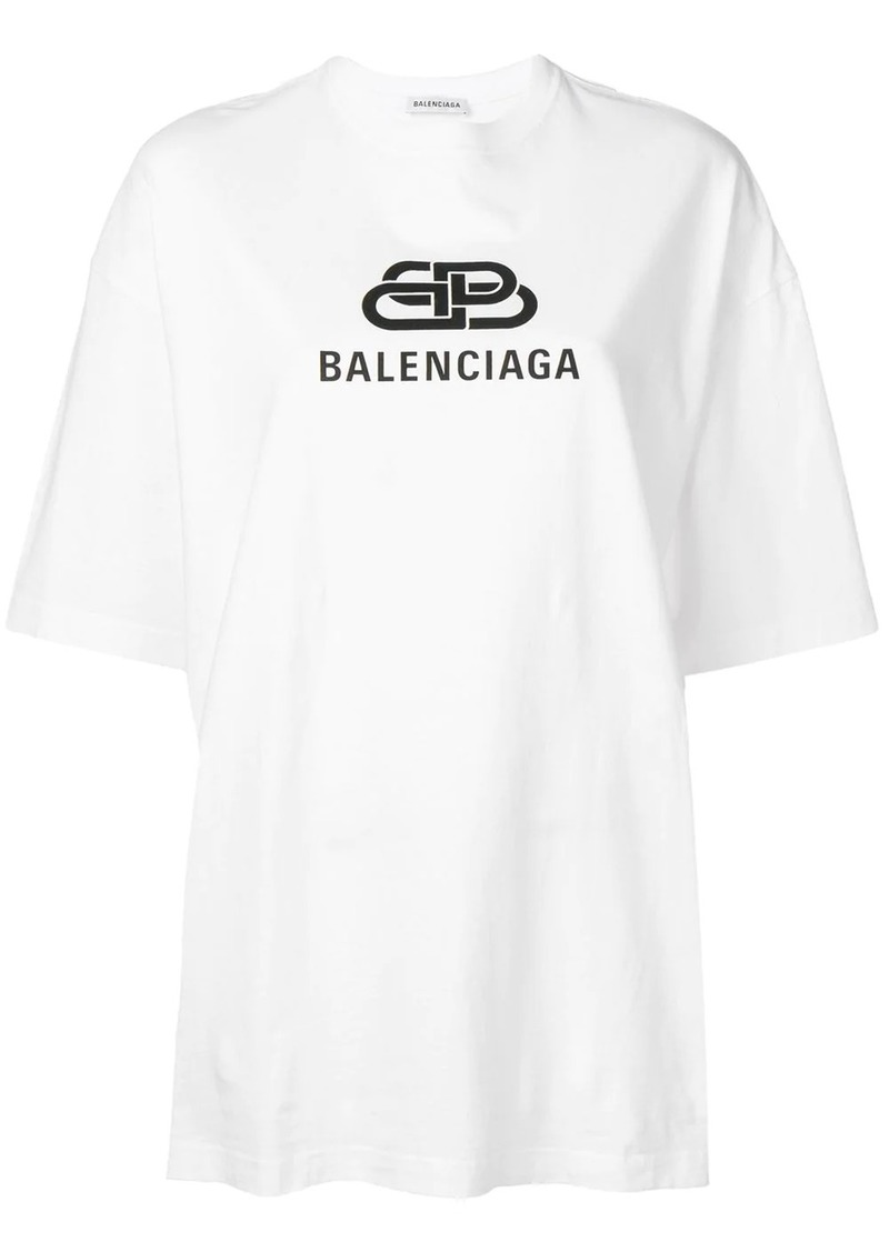 Balenciaga oversized BB logo T-shirt