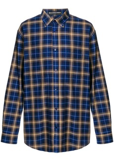 Balenciaga oversized check shirt