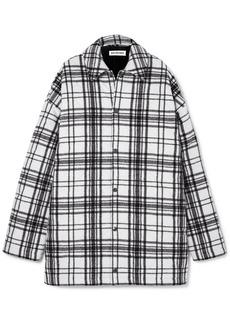 Balenciaga Oversized Checked Wool-felt Shirt