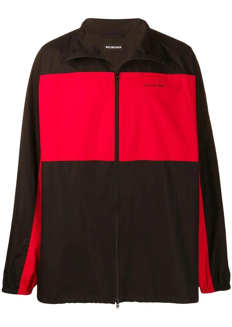 Balenciaga oversized fleece zip-up jacket