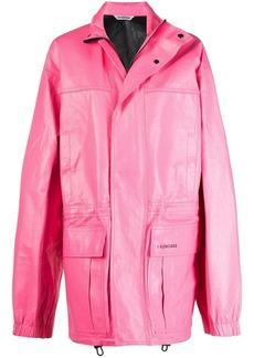 Balenciaga oversized logo print light parka coat