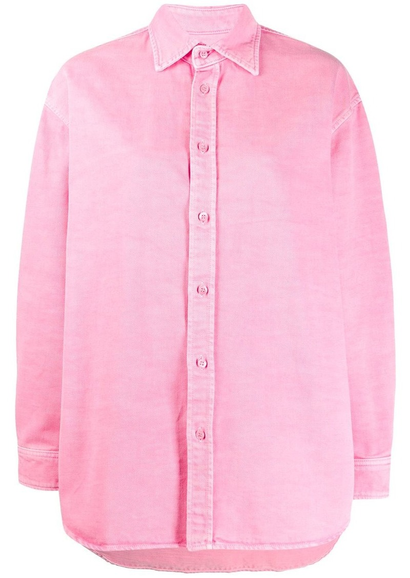 Balenciaga oversized long-sleeved buttoned shirt