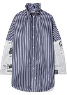 Balenciaga Oversized Paneled Cotton-poplin Shirt