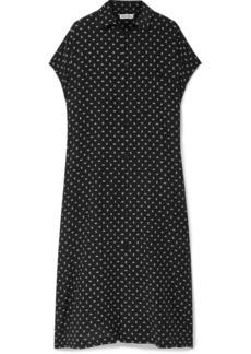 Balenciaga Oversized Printed Silk-crepe Midi Dress