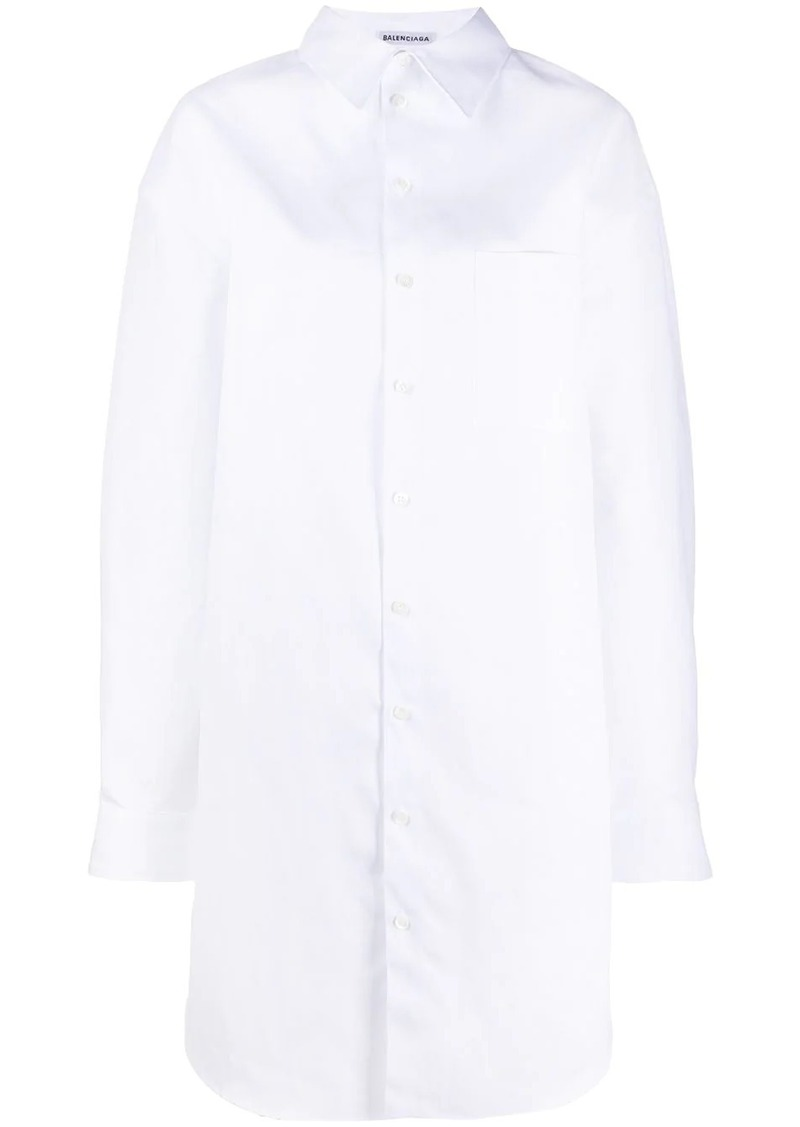 Balenciaga oversized shirt dress