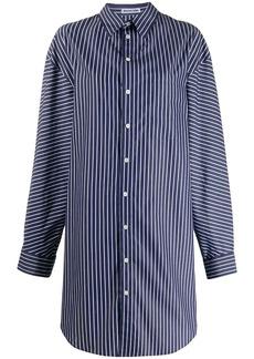 Balenciaga oversized striped pulled shirt dress