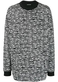 Balenciaga oversized wavy logo longsleeved sweater