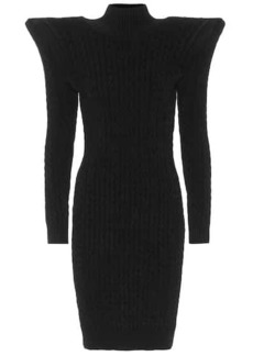 Balenciaga Pagoda cable-knit chenille minidress