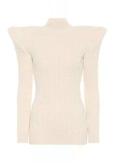 Balenciaga Pagoda cable-knit chenille sweater