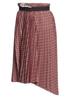 Balenciaga Paisley Pleated Asymmetric Skirt