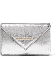 Balenciaga Papier Mini Printed Metallic Textured-leather Wallet