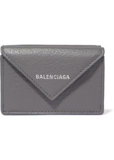 Balenciaga Paper Mini Printed Textured-leather Wallet