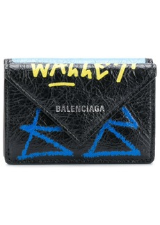 Balenciaga Paper mini scribble wallet