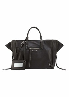 Balenciaga Papier A6 Zip Around Tote Bag  Black