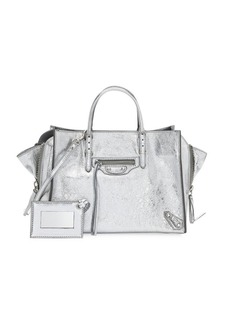 Balenciaga Papier Animation Leather Satchel