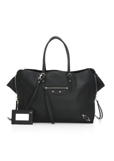 Balenciaga Medium Papier Zip-Around B4 Leather Tote