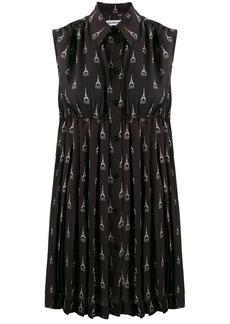 Balenciaga Paris Explored sleeveless pleated dress