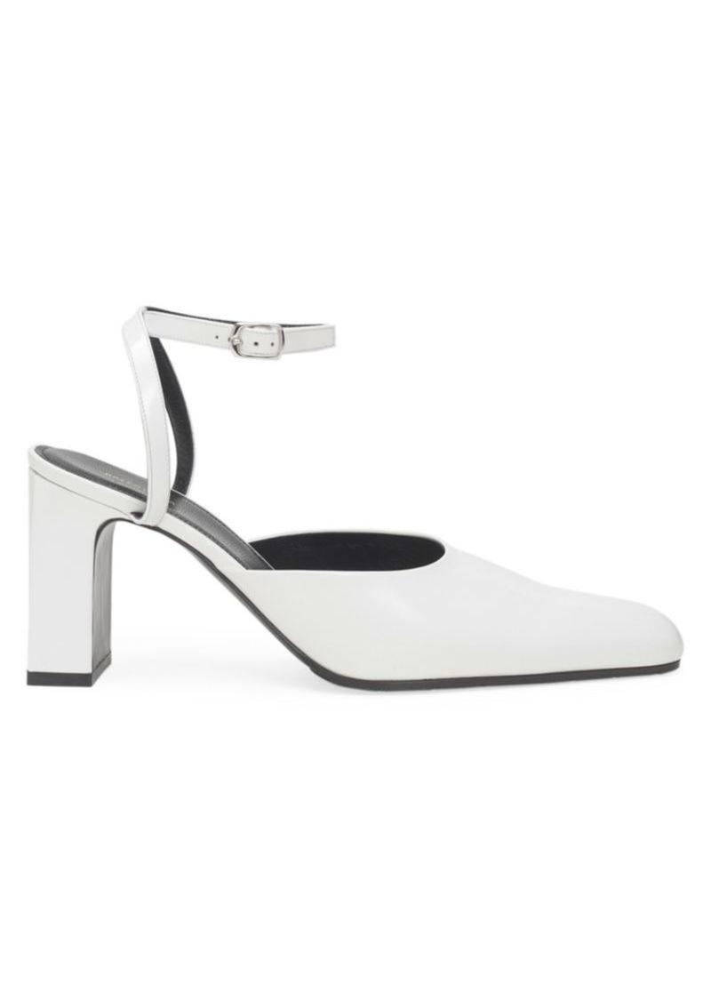 Balenciaga Ankle-Strap Patent Leather Pumps