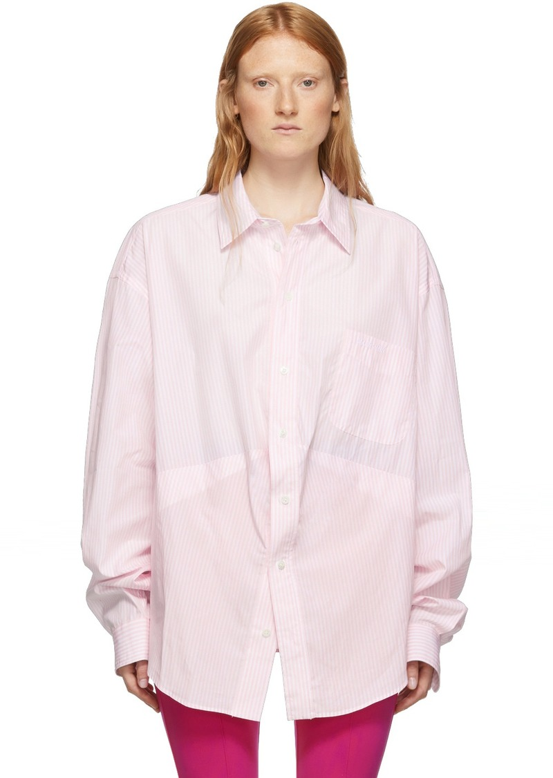 Balenciaga Pink & White Swing Shirt